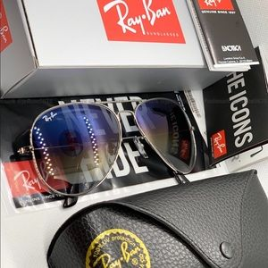 Ray-Ban Accessories - 🌐[Blue] Gradient RAYBAN Original Aviator [Silver]